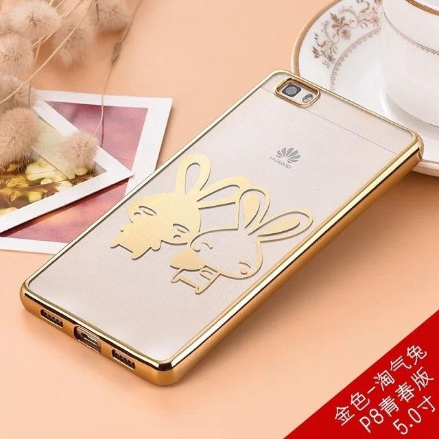 Free shiping hello kitty phone cases for huawei p8 lite cover gilter 3d cartoon case-chrome coque fundas for huawei p8 lite case