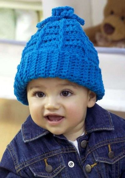 Stretchy Kids Hat, free crochet pattern at FaveCrafts