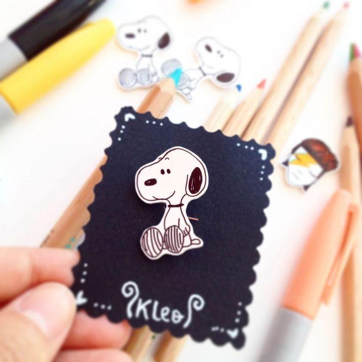 Snoopy Broş Sabah erkenden kalkıp Snoopy izleyenlere,El çizimi, iğne arkalıklı, plastik broş.. 324076