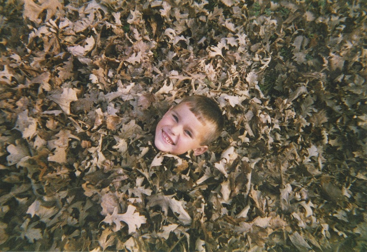 Jeremy in the leaves (about 2000?)