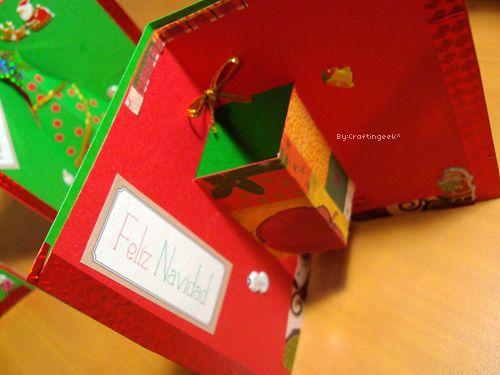 craftingeek tarjetas para navidad estilos popup d y