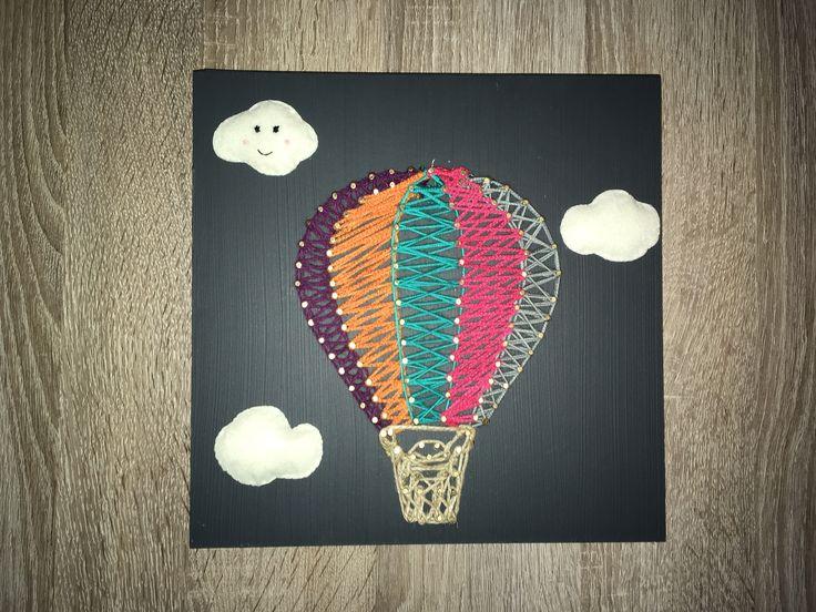 String Art ,Air baloon Çocuk odası,Duvar Dekor,Uçan balon