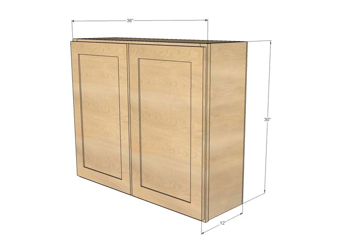 "Ana White | Build a 36"" Wall Cabinet, Double Door - Momplex Vanilla Kitchen 