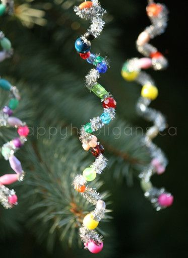 Easy Icicle Ornaments for kids to make. They're so simple, but so beautiful! - Happy Hooligans