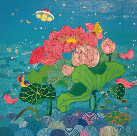 The Lotus Flowers Painting.(Kim Ji-Hye)