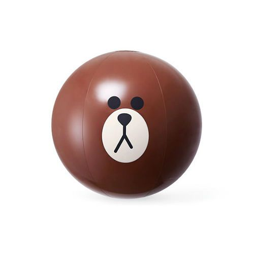 Naver Line Friends Brown Beach Ball Water Toy Swimming Pool Birthday Party Korea #NaverLineFriends