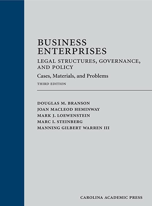 Download Business Enterprises Legal Structures Governance And Policy Cases Materials And Probl