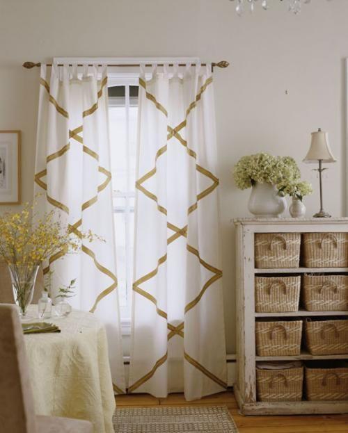 Una idea para transformar unas cortinas minimalistas.