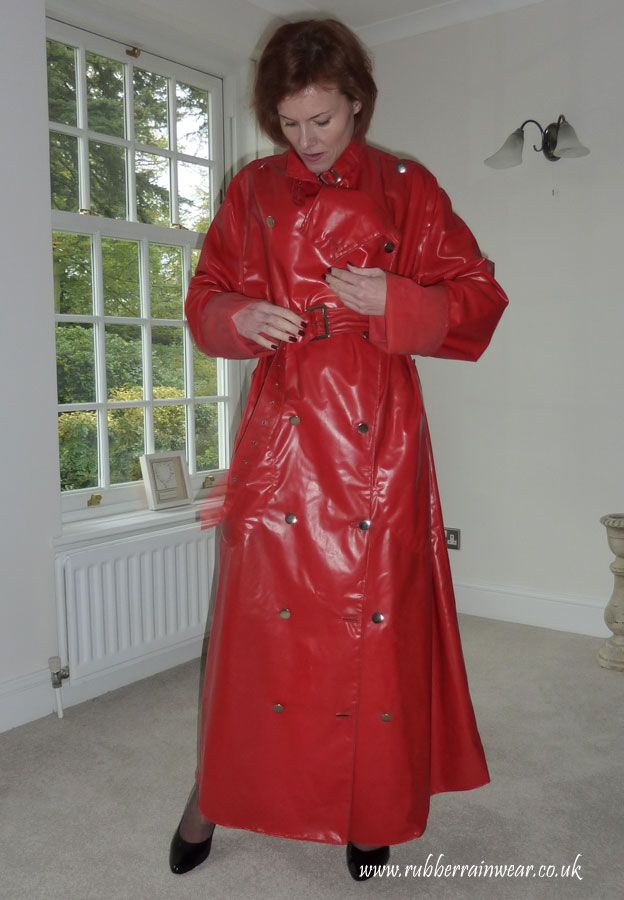 Red pvc mackintosh | Grannys in coats | Pinterest ...