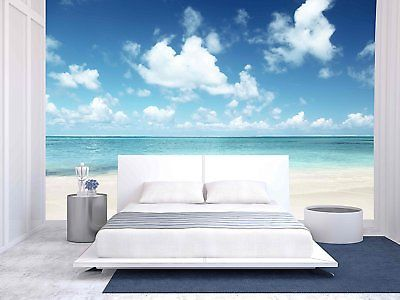 wall26 - Sand of Beach Caribbean Sea - Removable Wall Mural | Self-adhesive -