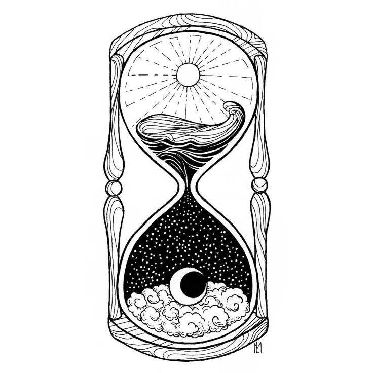 ⌛️- ☀️day and night🌙 - #art #ink #fineliner #blackandwhite #drawing #inkart #tattoo #illustration #iblackwork #thedotworkers #arts_help #arts_collective #hourglass #day #night #dayandnight #sea #sun #moon #time