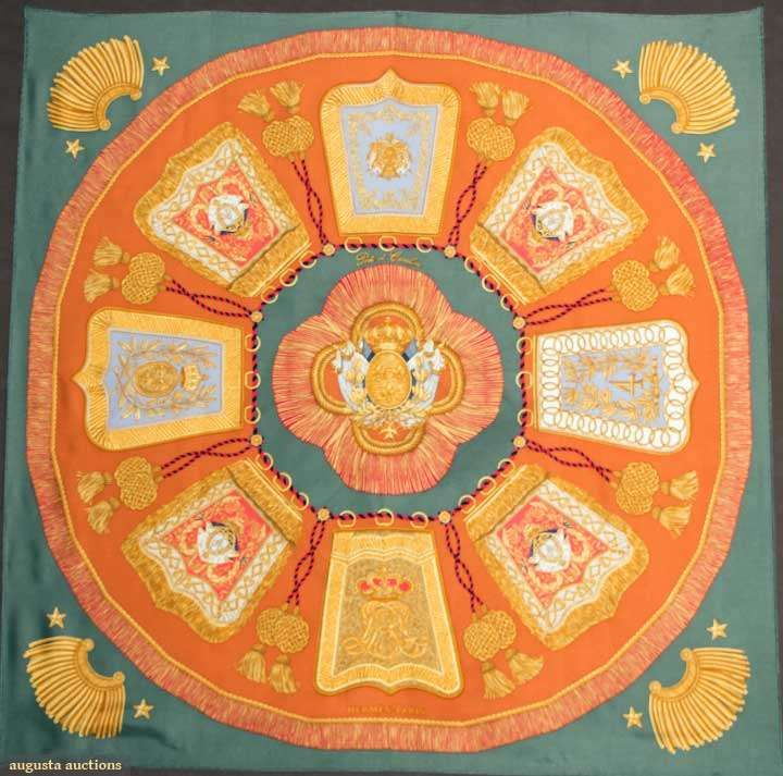 Hermes Poste Et Cavalerie Scarf, 20th C, for upcoming auction. #textiles