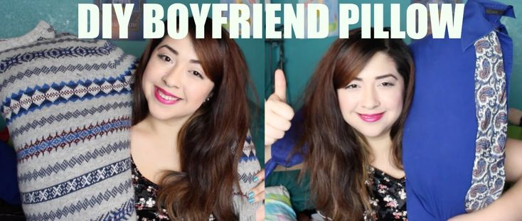 DIY BOYFRIEND PILLOW with Mayainthemoment