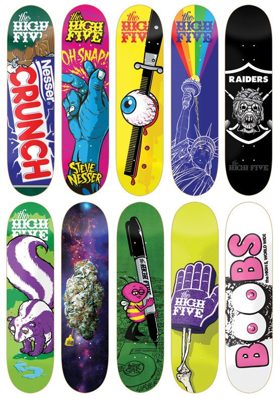 todd bratruds high five skateboards