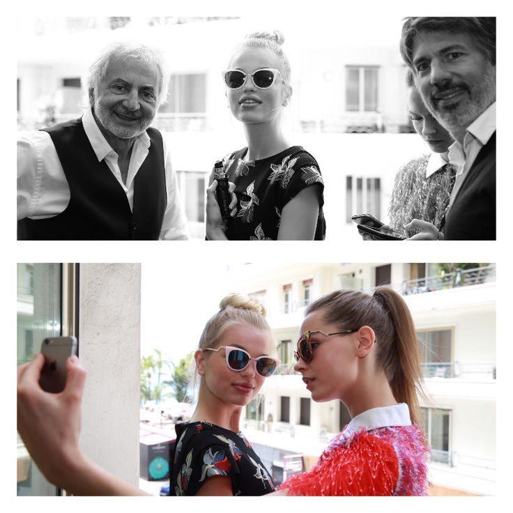 One last break selfie for Daphne Groeneveld with her friend Mina Cvetkovic, then go to the Fendi lunch! #cannes #cannes2015 #cannesforever #franckprovost #franckprovostparis #backstage #latergram