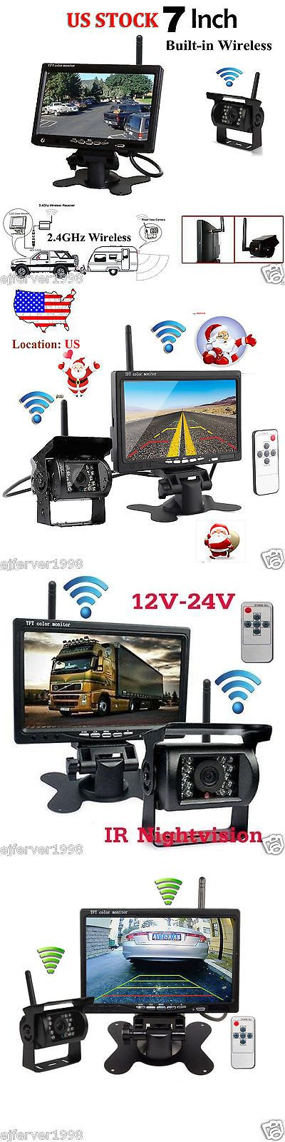 Rear View Monitors Cams and Kits: Wireless Ir Night Vision Rear View Backup Camera+7Monitor For Rv Truck/Trailer -> BUY IT NOW ONLY: $68.99 on eBay!
