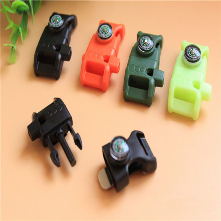 10pcs/lot 14mm 5/8 '' Webbing Bag Plastic Buckle Fire flint Compass Whistle curved Side Release Paracord Buckles 50*20mm/pc