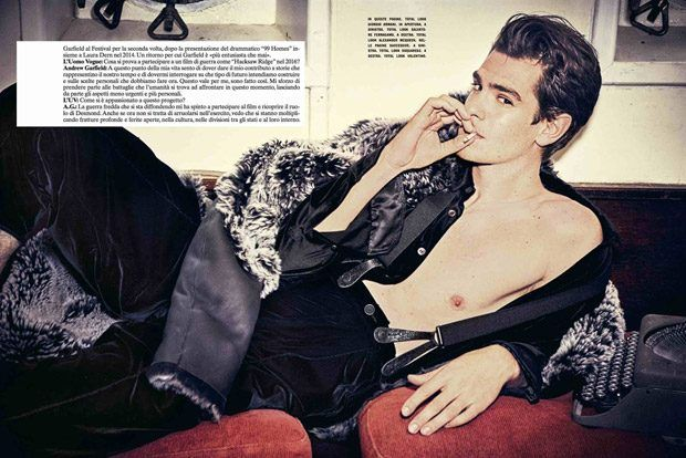 Andrew Garfield Stars in L'Uomo Vogue Cinema Issue Cover Story
