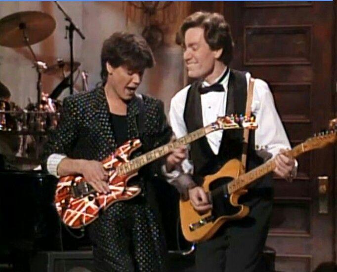 Evh and G E Smith  SNL BAND 1987