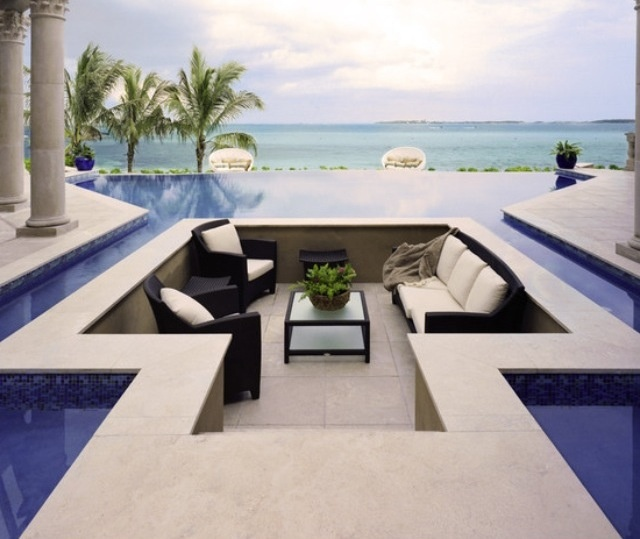 Divine ::Living Area, Pools Area, Seats Area, Sitting Area, Outdoor Living Room, Tropical Pool, Dreams Pools, Pools Design, Outdoor Pools