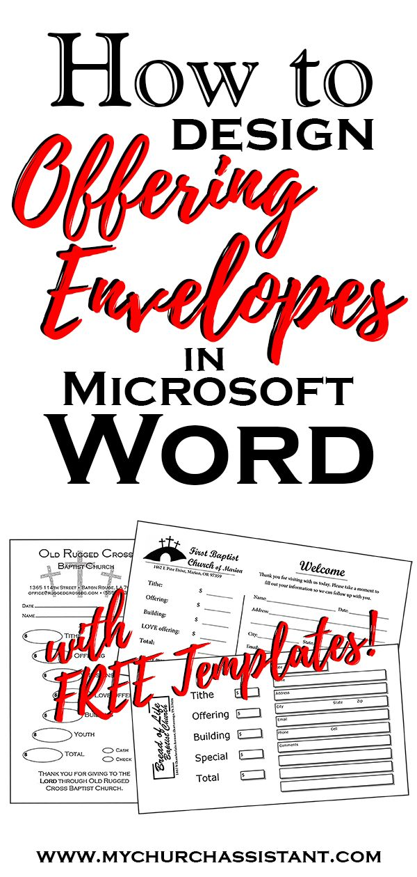 Free Downloadable Offering Envelope Templates For Microsoft Word And Publisher