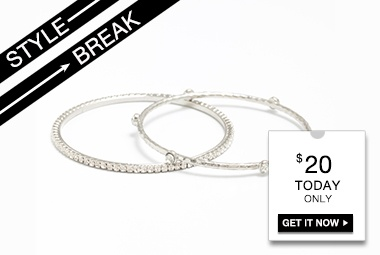 STYLE BREAK! Get the Bethany Bangle Set for $20.  Today Only!