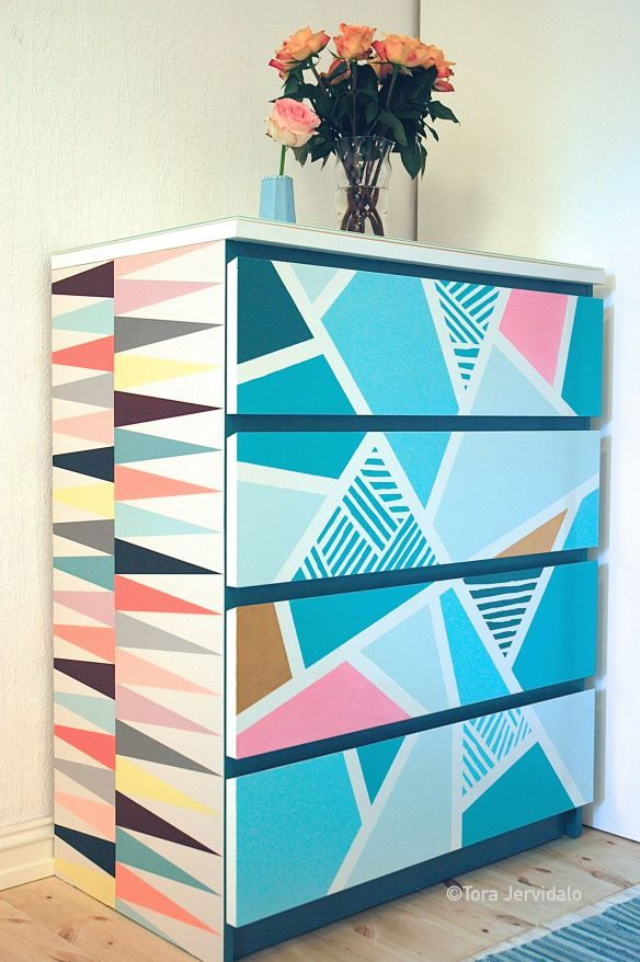 DIY Ikeahack Malmkommode graphic design interior color