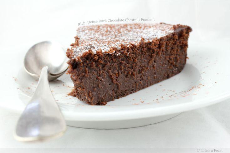 Fondant riche et dense au châtaignier et chocolat noir   – Food