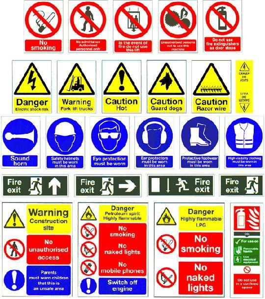 Construction Safety Signs Ergonomics/OSH Pinterest