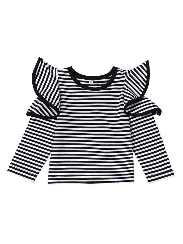 Child Black And White Striped Shirt