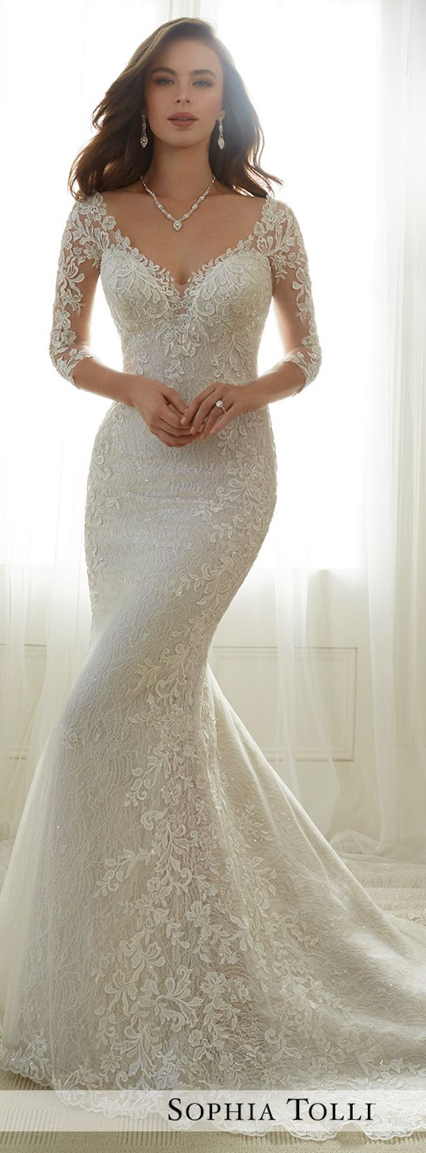 Lace Sleeves Wedding Dress - Sophia Tolli 2017