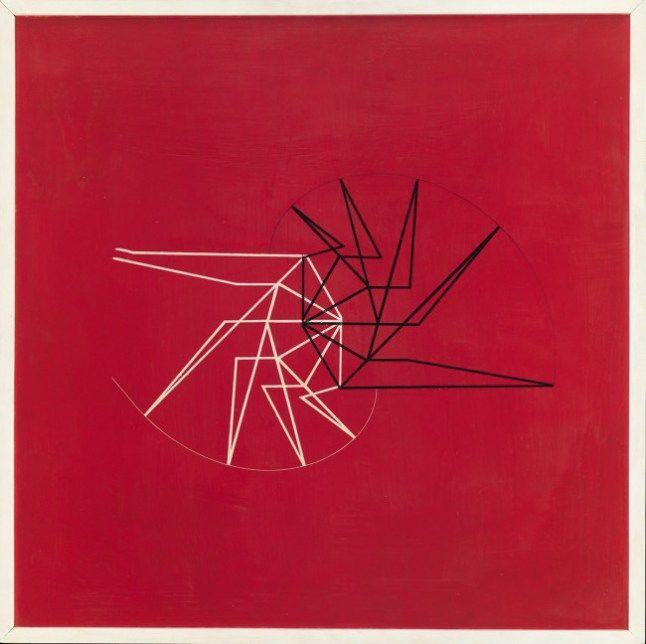 Waldemar Cordeiro, Idéia visível (1956). Acrylic on plywood.