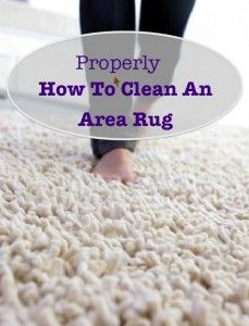 I Read This Before Cleaning My Rug And Then Followed The Tips.