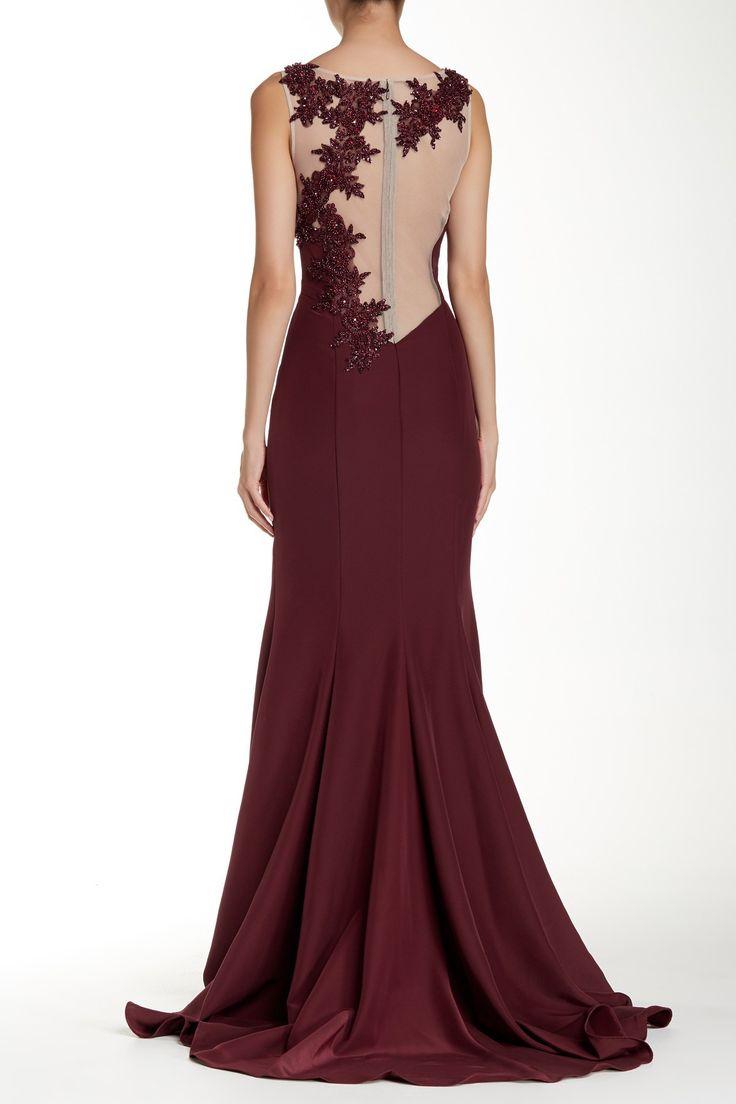 Sleeveless Embellished Yoke Gown Fancy Pantsformal Fashionpretty Woman Nordstrom