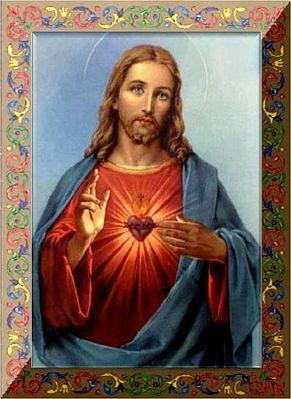 Imagen Cuadro Del Sagrado Corazon de Jesus