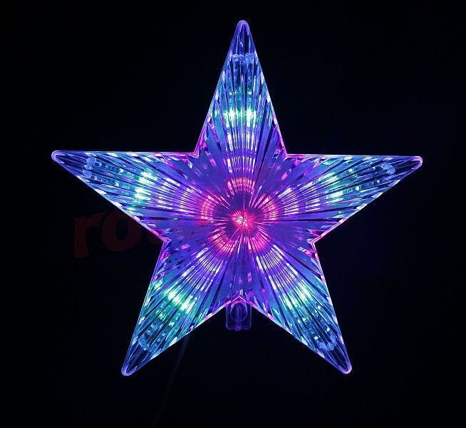 Cimier de sapin - étoile LED multicouleur http://www.rotopino.fr/cimier-de-sapin-etoile-led-multicouleur-bulinex-10-101,58132 #noel #decoration #rotopino #cimier #cimierdesapin