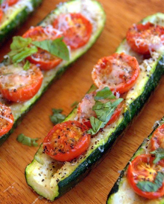 Low FODMAP Vegetarian Recipe and Gluten Free Recipe -  Zucchini with tomato & Parmesan   http://www.ibscuro.com/low_fodmap_vegetarian_recipes_zucchini_tomato_pamesan.html