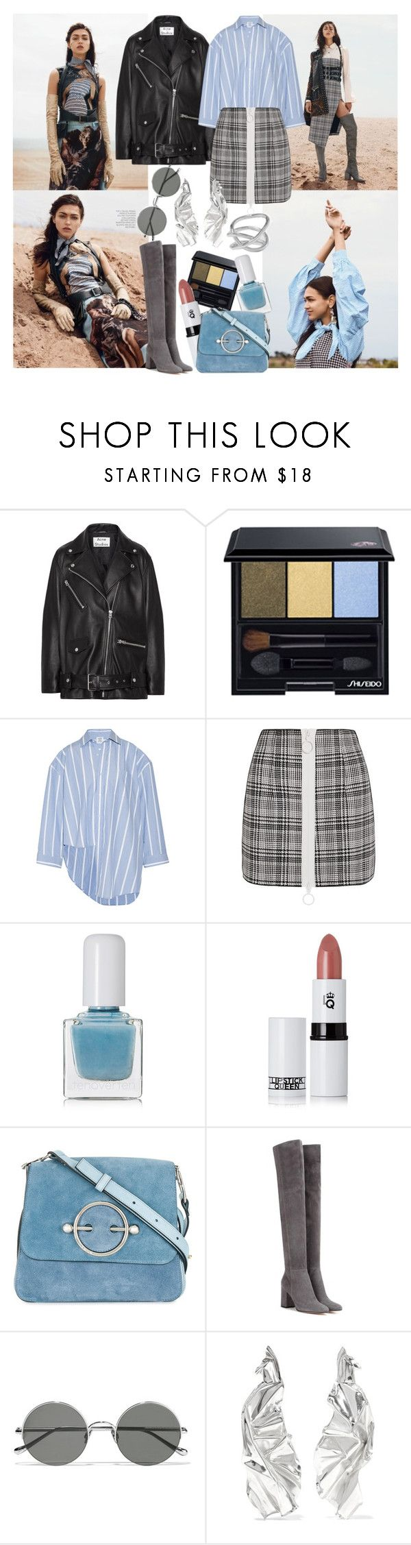 """untitled//nineteen"" by brownish ❤ liked on Polyvore featuring Acne Studios, Shiseido, Vetements, Off-White, tenoverten, Lipstick Queen, J.W. Anderson, Gianvito Rossi, Sunday Somewhere and WWAKE"