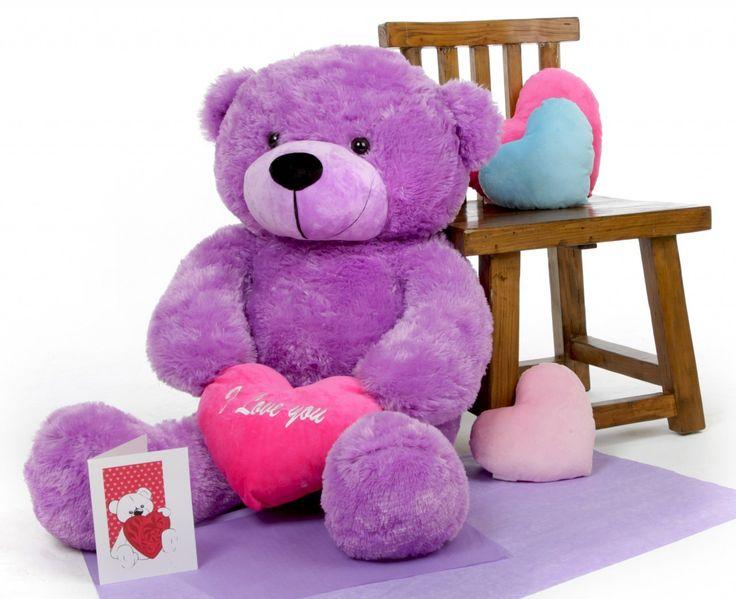 Giant Teddy  - True Love Bear Hug Care Package with DeeDee Cuddles Purple 38in, $74.99 (http://www.giantteddy.com/true-love-bear-hug-care-package-with-deedee-cuddles-purple-38in/)