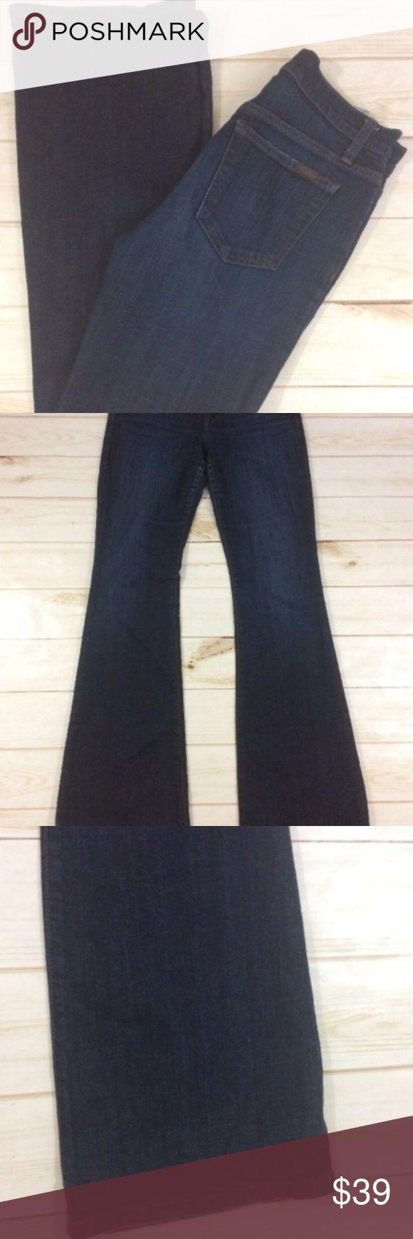 "Joe's Women's High Rise Flare Dark Wash Dixie Joe's Women's High Rise Flare Dark Wash Dixie Size 26   Approximate Measurements:  Waist: 28"" Rise: 10"" Inseam: 33'  A568-P2 Joe's Jeans Jeans Flare & Wide Leg"