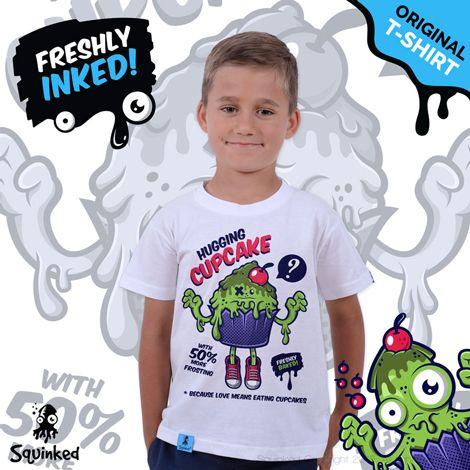 Green Hugging Cupcake...  *Kids T-shirt! *Tricou pentru copii!