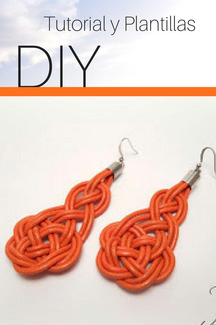 c046ae5eac9a Tutorial para hacer unos pendientes con nudo celta de color naranja  Pendientes De Cuero