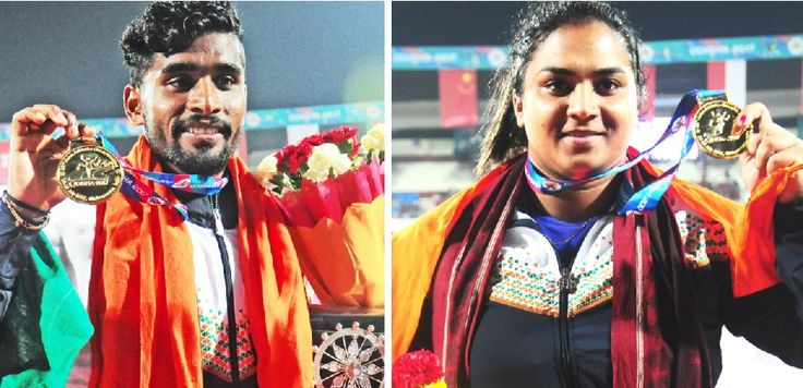 Indian athletes were shine on the opening day of the 22nd Asian Athletics Championships held in Odisha capital. The nation clinch 7 medals.