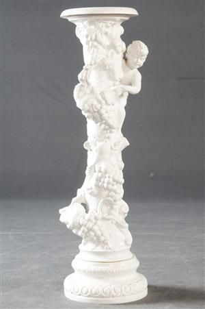 Vara: 4132676Blumensäule H. 91 cm, weiß glasierte Keramik