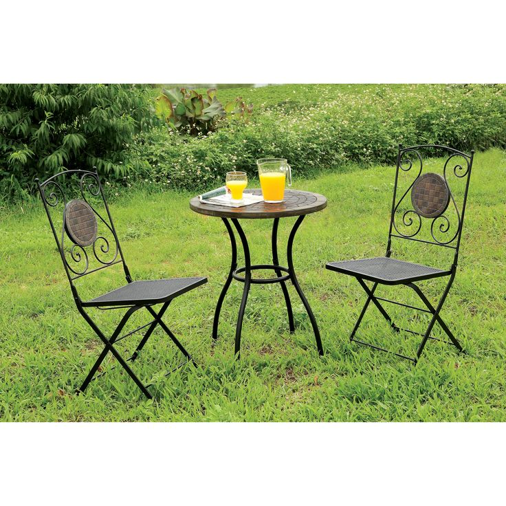 furniture of america corsa bistro patio table from