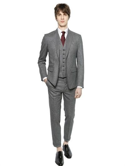CHY FASHION FINDER.: London Houndstooth Wool Flannel Suit by DSQUARED2