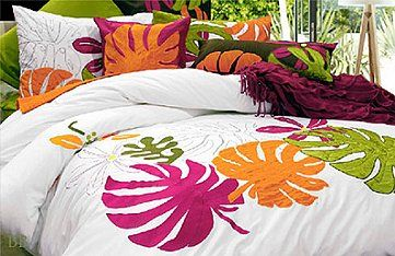 Tropical Breeze bedding by Alamode...some of my favorite colors!