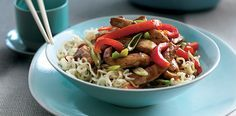 Upgrade plain ramen noodles with teriyaki pork and vegetables for a more satisfying dish.