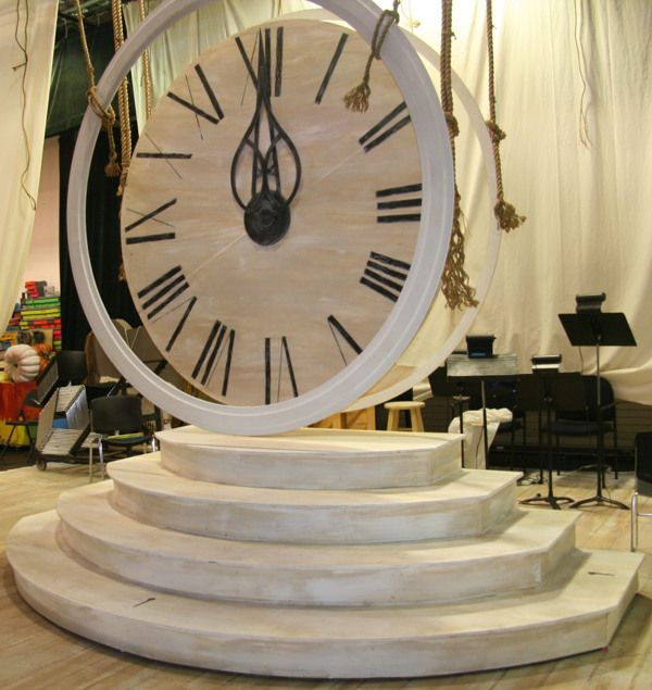 ARCHITECTURE   Clock for a Cinderella set. When the clock strikes 12:00am and her magic night ends. Cool piece. ~Whitney