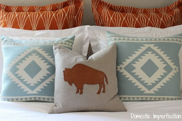 Modern Southwestern bedding...links to sources are included in the post!